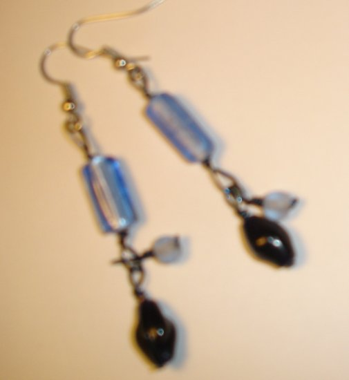 Dangling earrings - Blue