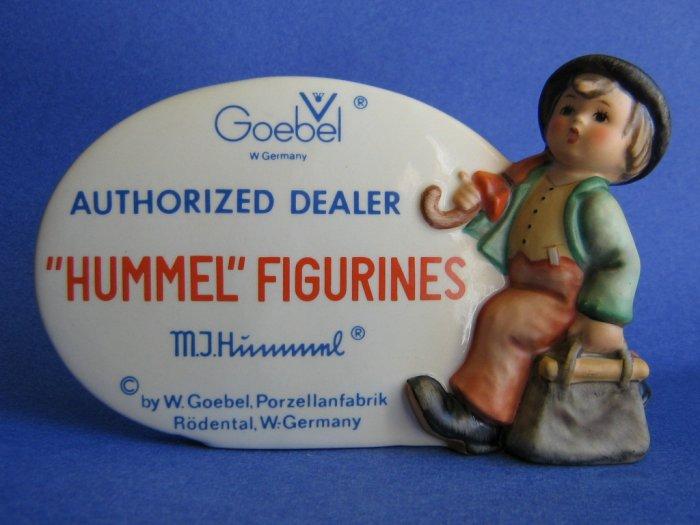 M.I. Hummel Authorized Dealer Plaque HUM 187  TMK 5