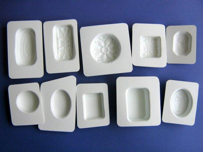 Soap Molds Set of 10 plain and fancy