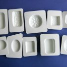 Soap Molds Set of 10 plain and fancy