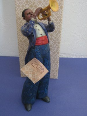 Trumpet Player Jazz Jim Shore Life of a Nation Series 2005