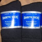 Women  Diabetic Socks Ladies Color BLACK  Sock Size 9-11, Shoe Size 5-9, 6 pairs