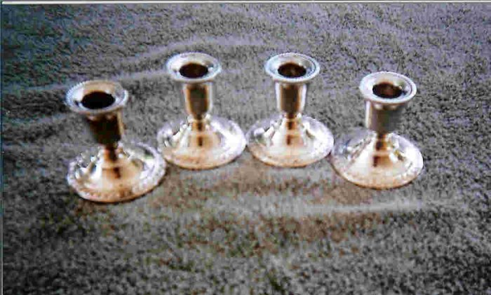 Set of 4 Sterling Silver candle holders