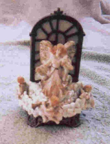 Angels' window musical statue