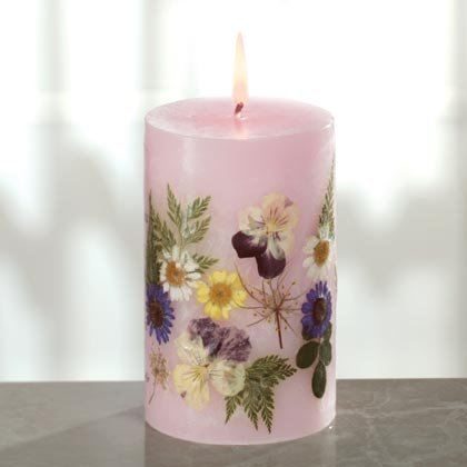 """Floral """"Grandmother"""" Candle"""