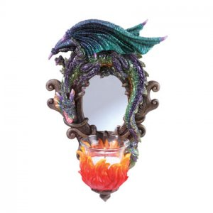 Dragon Mirror And Candle Holder