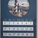 Wooden Wall Clock and Calendar