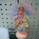 Fiber Optic Girl With Children Night Light