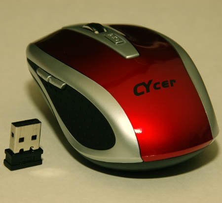 Nano USB Wireless Optical Mouse for Notebook Laptop (RED)