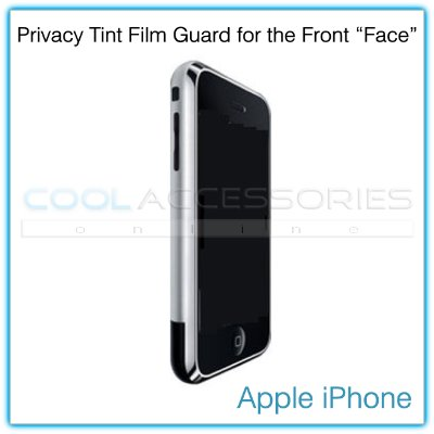"Privacy Tinted Film Shield for the Front ""Face"" of the Apple iPhone"