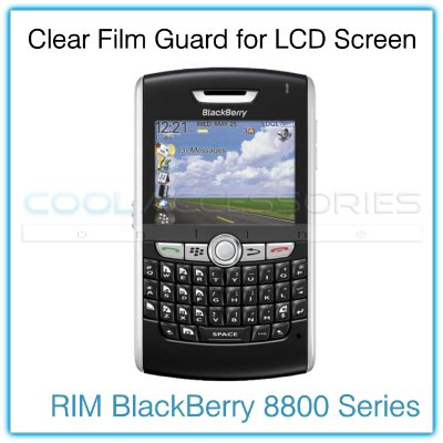 Clear Protective Film Guard for the LCD Display Screen of the RIM BlackBerry 8800 Series