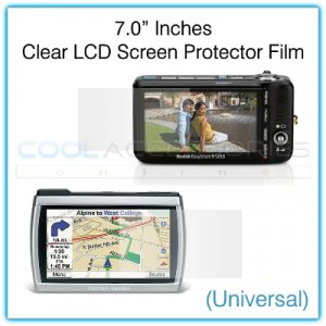 """7.0"""" Inches Universal Clear LCD Screen Protector Film Guard for Digital Cameras, etc."""