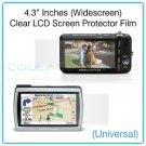 "4.3"" Inches Widescreen Universal Clear LCD Screen Protector Film Guard for Digital Cameras, etc."