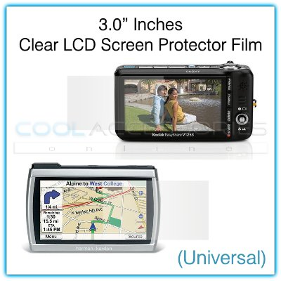"""3.0"""" Inches Universal Clear LCD Screen Protector Film Guard for GPS Navigators, etc."""