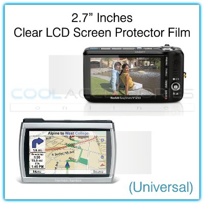 """2.7"""" Inches Universal Clear LCD Screen Protector Film Guard for Digital Cameras, GPS, etc."""