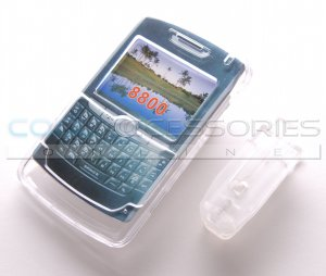 Clear Crystal Shell Case with Belt Clip for RIM BlackBerry 8800