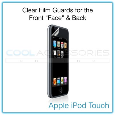 Front Face & Back Clear Protective Films for Apple iPod Touch/iTouch