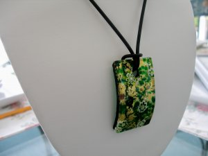 Murano Glass Pendant Gold Clasp Made in Italy