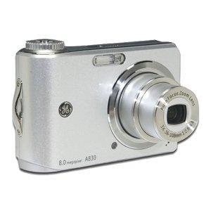 GE A830 Silver 8MP Digital Camera