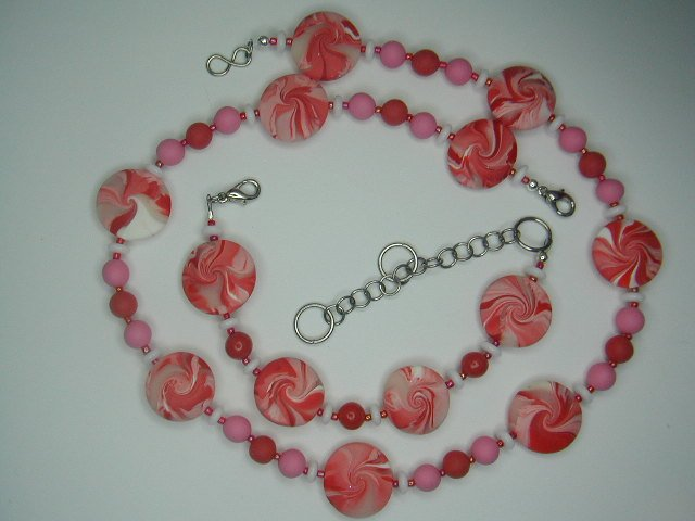 Designer created Set red / white beads, U add the blue