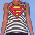 Size X-Small Supergirl Striped Racerback Tank