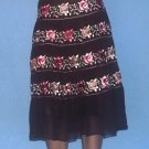 Laundry By Shelli Segal Brown Floral Brown Skirt Size 4