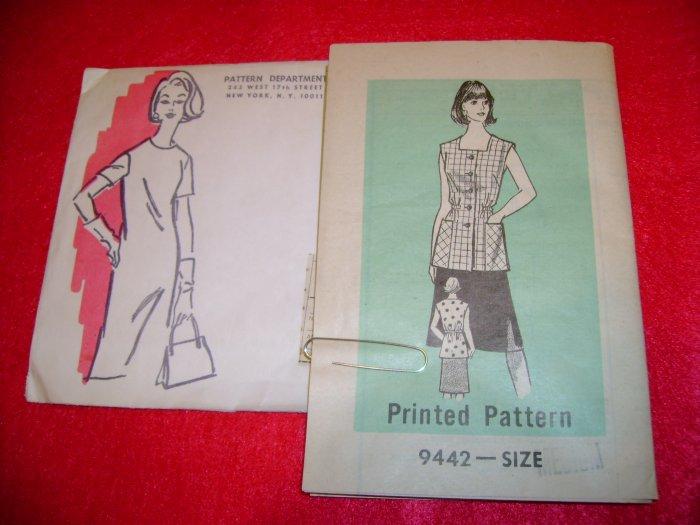 Vintage Pattern Department Women's Cobbler Apron Pattern Size Medium