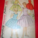 Vintage Simplicity Girls One Piece Dress Sun Dress Jumper Pattern Size 10
