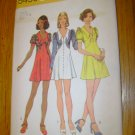 Vintage Simplicity Junior Petites Misses Short Dress Pattern Size 8