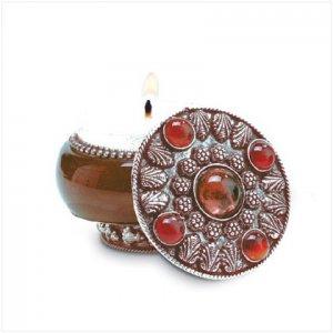 Lavendar Jeweled Lid Jar Candle