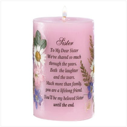 Sister Tribute Dried Flowers Candle