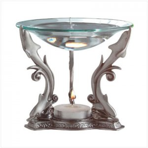 Pewter Dolphins Oil Warmer