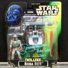 Bobba Fett  Star Wars Deluxe AUTOGRAPHED