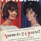 Elizabeth Taylor Jackie Kennedy Photoplay June 1962