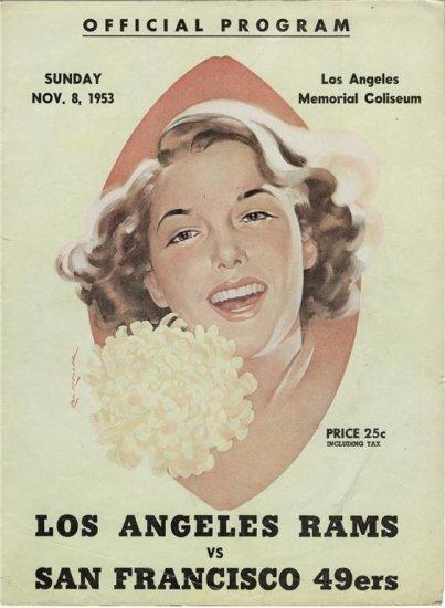 Los Angeles Rams VS San Francisco 49ers program 11/8/53