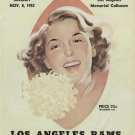 Los Angeles Rams VS San Francisco 49ers program 11/8/53