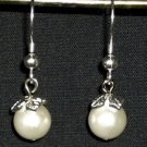 Pearls and Leaves Earrings
