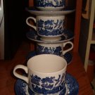 Churchill England~Cup & Saucers~8 Lot