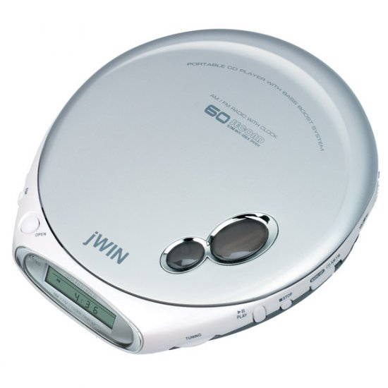 jWIN Personal AM/FM/CD Player with 60-Second ASP JX-CD790
