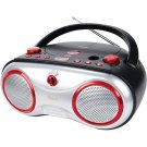 jWIN Portable AM/FM/CD Boombox Red JX-CD423RED