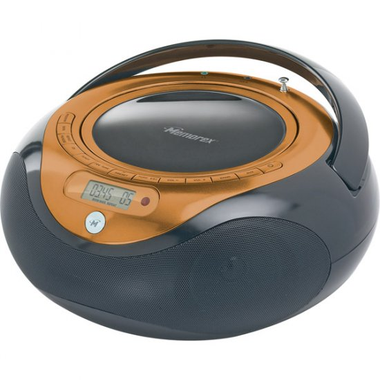Memorex CD Boombox with Digital AM/FM MP3848OBK