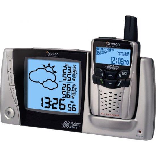 Oregon Scientific Emergency Public Alert Weather Station with Alarm Clock WRB-603