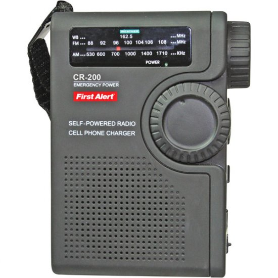 First Alert Crank Radio with 3-Way Power CR-200