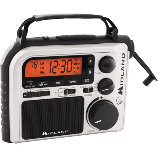 Midland Emergency Crank Radio with AM/FM and Weather Alert ER-102