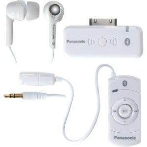 Panasonic White Bluetooth® iPod® Earbuds with Remote Control RP-BT10WHT
