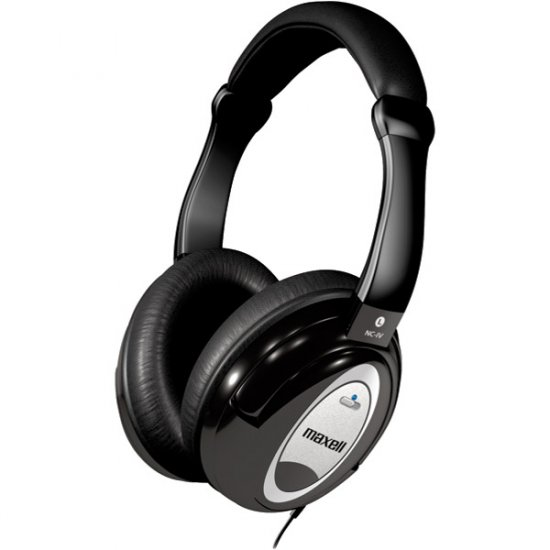 Maxell Superior Noise Canceling Headphones with Enhanced Quality Sound HP/NC-IV