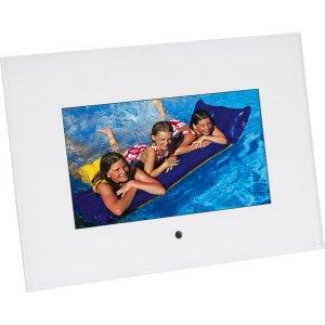"Sunpak 7"" Digital Photo Acrylic Frame White SF-070-310001UH"
