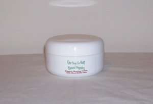 Organic Shave Cream with Shea Butter/White Tea 4 oz.