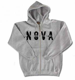 NOVA Gray Zip-Up Hoodie Size SMALL