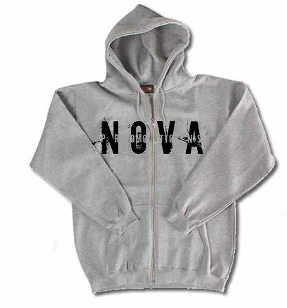 NOVA Gray Zip-Up Hoodie Size X LARGE